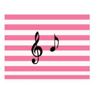 nota musical tarjeta postal