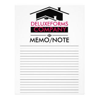 Nota negra de la nota del tejado membrete