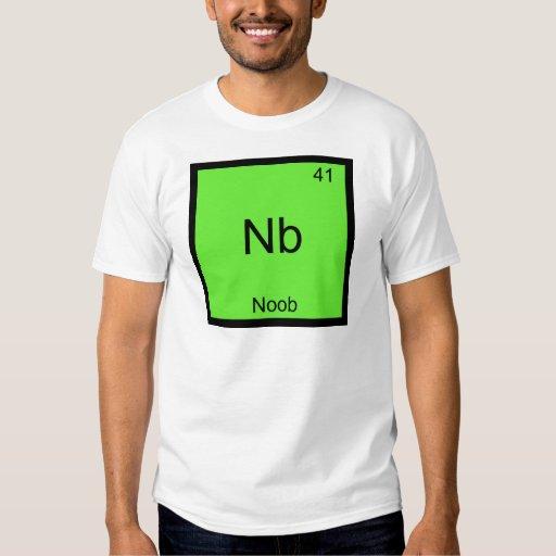 NOTA - Newbie divertido del símbolo del elemento Playeras