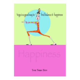¡Nota o señal de la vanidad de la yoga de Lil! Tarjetas De Visita Grandes