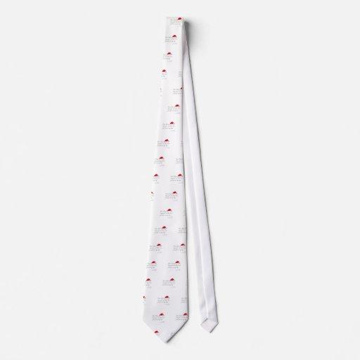 nota para santa corbatas