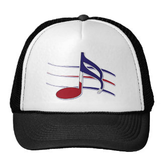 Nota patriótica de la música gorro