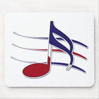Nota patriótica de la música tapete de raton