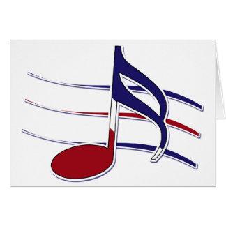 Nota patriótica de la música tarjetas
