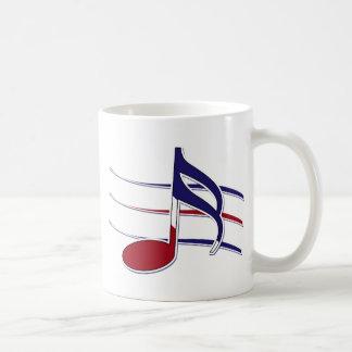 Nota patriótica de la música taza clásica