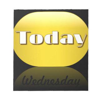 Nota pegajosa de miércoles del calendario del día  blocs
