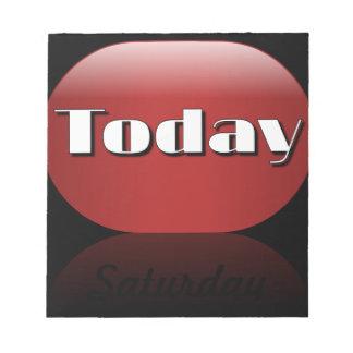 Nota pegajosa de sábado del calendario del día lab bloc