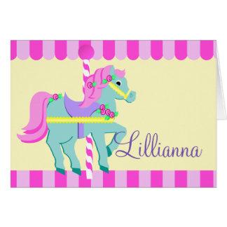 Nota personalizada potro pintada tarjeta pequeña