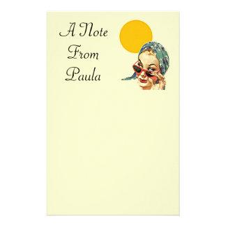 nota personalizada vintage de los efectos de escri  papeleria de diseño