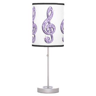Nota púrpura brillante de la música de la lila lámpara de escritorio