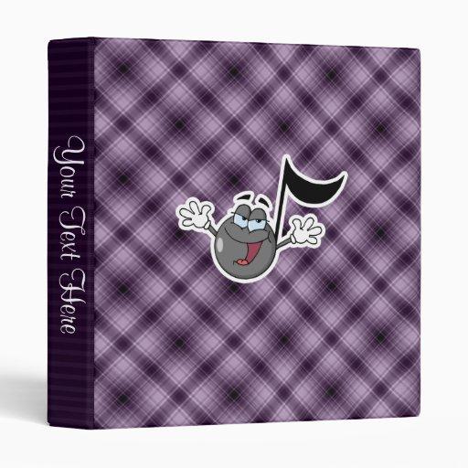 """Nota púrpura de la música del dibujo animado carpeta 1"""""""