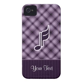 Nota púrpura de la música iPhone 4 Case-Mate cárcasa