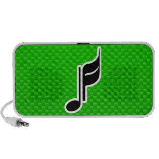 Nota verde de la música PC altavoces