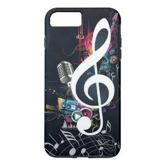 Nota y micrófono abstractos de la hendidura funda iPhone 7 plus