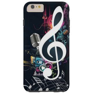 Nota y micrófono abstractos de la hendidura funda resistente iPhone 6 plus