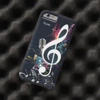 Nota y micrófono izquierdos abstractos funda para iPhone 6 tough