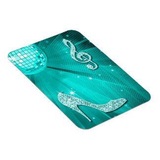 Nota y tacón de aguja brillantes de la música del imanes