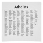 notable atheists, Atheists Poster