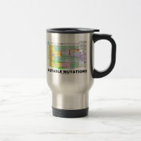 Notable Mutations (Genetics Amino Acids) 15 Oz Stainless Steel Travel Mug