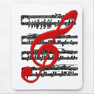 Notación Cojín-Musical del RATÓN Tapetes De Raton