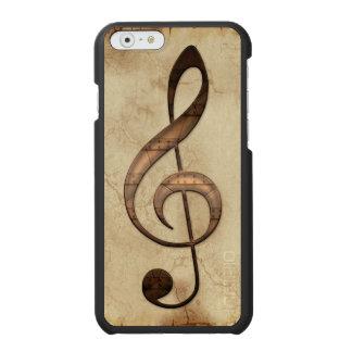 Notación de partitura en el pergamino para los funda billetera para iPhone 6 watson
