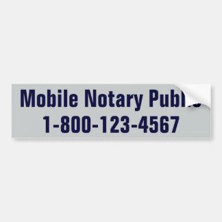 Notario público móvil pegatina para auto