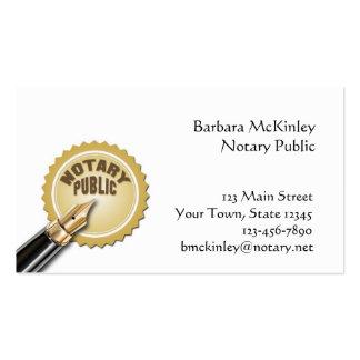 Notario público tarjetas de visita