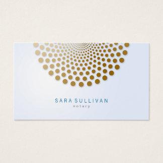 Notary Business Card Circle Dots Motif