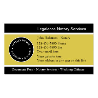 Legal documents business cards templates zazzle for Examples of notary public business cards