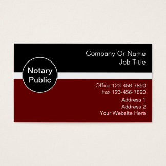 Notary Business Cards & Templates | Zazzle