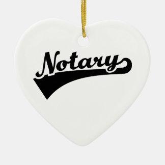 Notary Ceramic Ornament