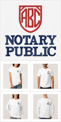 Notary Embroidered
