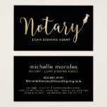 "Notary - Loan Signing Agent Professional Business Card<br><div class=""desc"">Notary Loan Signing Agent Professional Black &amp; Gold Business Cards.</div>"