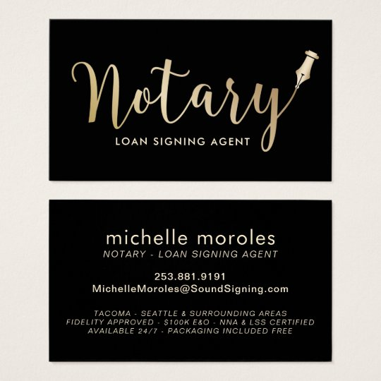 Notary loan signing agent professional business card zazzle notary loan signing agent professional business card reheart Choice Image