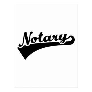 Notary Postcard