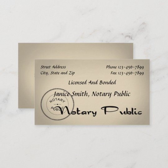 notary public business card - Notary Public Business Cards