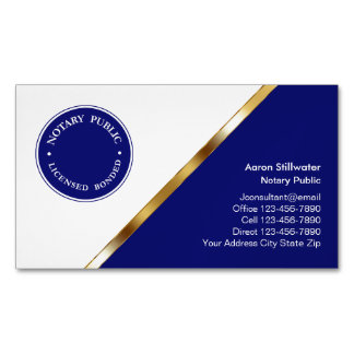 Notary Public Business Card Magnets
