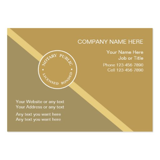 Notary public business card template zazzle for Business cards notary public samples