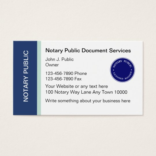 Notary public business cards zazzle notary public business cards reheart Choice Image