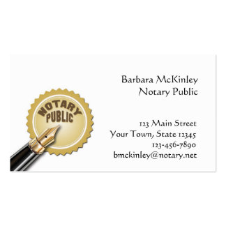Notary Public Double-Sided Standard Business Cards (Pack Of 100)