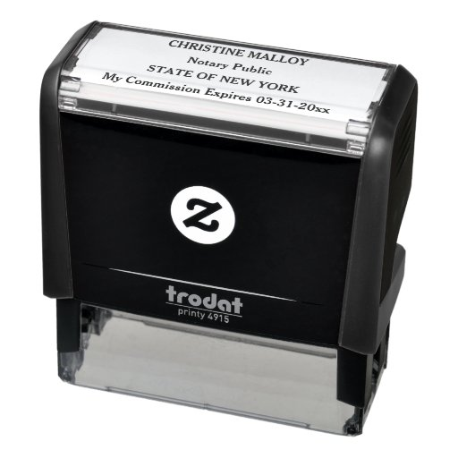 Notary Public Four Line Customizable Self-inking Stamp