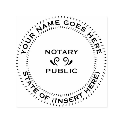 Notary Public round Self_inking Stamp