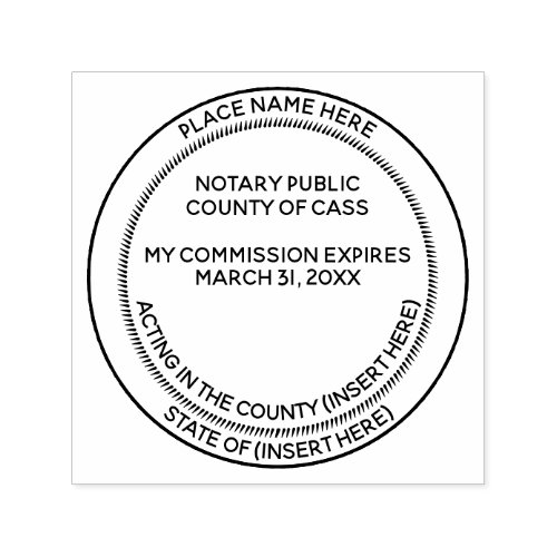 Notary Seal commission expiry state and county Self_inking Stamp