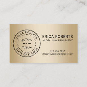 Notary Business Cards Card