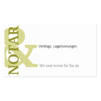 Notary Visitenkarte Business Card