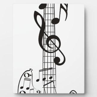 Notas 11 de la guitarra y de la música placa de plastico