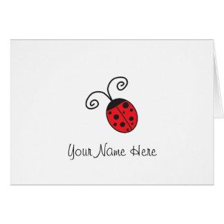 Notas afortunadas de la mariquita tarjeta pequeña