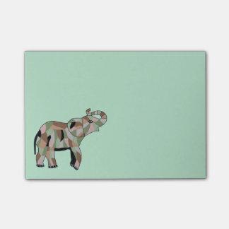 Notas afortunadas del Poste-it® del elefante Notas Post-it