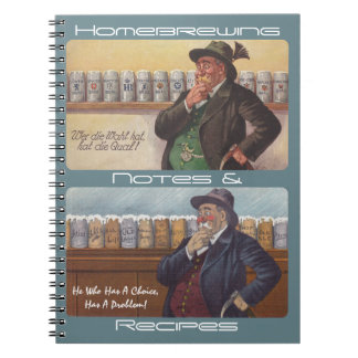 Notas alemanas de las recetas de Homebrewing del c Libreta Espiral