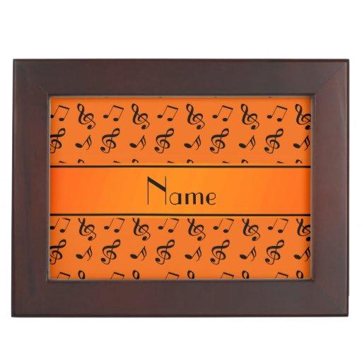 Notas anaranjadas conocidas personalizadas de la m cajas de recuerdos